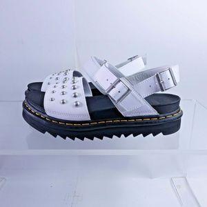 NEW Dr. Martens Voss Stud Platform Sandals White